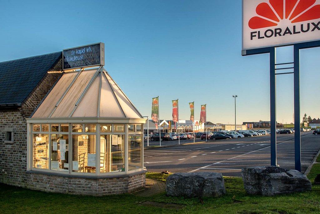 Kapel bij de parking van de Floralux